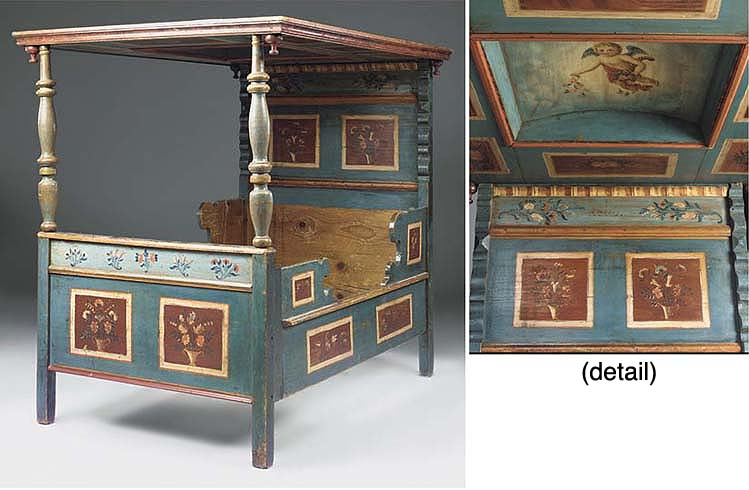 A SWEDISH POLYCHROME DECORATED