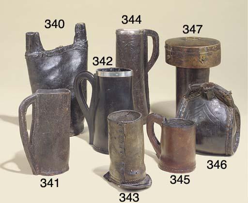 A leather jug