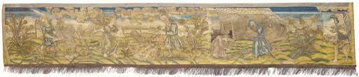 A large linen panel