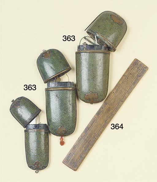 Three Continental shagreen cov