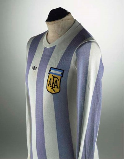 A BLUE AND WHITE ARGENTINA SHI