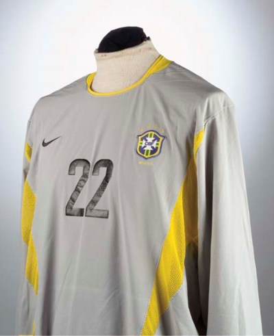 A GREY AND YELLOW BRAZIL WORLD