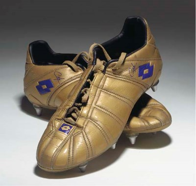 A PAIR OF CAFU'S LOTTO GOLD AN