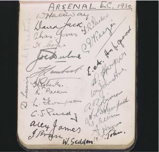 A COLLECTION OF ARSENAL PLAYER