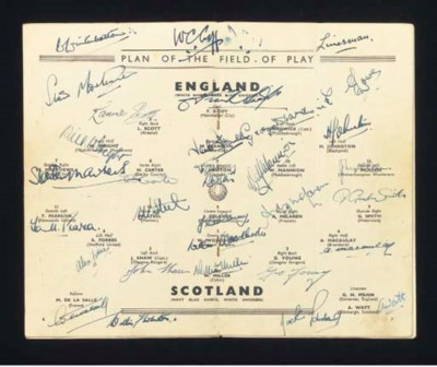 ENGLAND V. SCOTLAND INTERNATIO