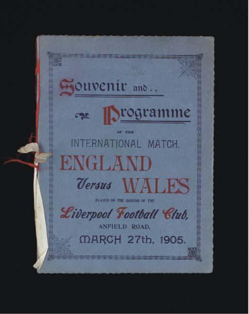 AN ENGLAND V. WALES INTERNATIO