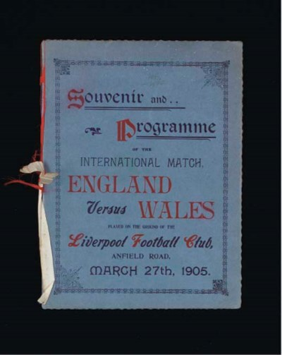 AN ENGLAND V. WALES INTERNATIO