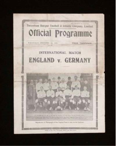 ENGLAND V. GERMANY INTERNATION