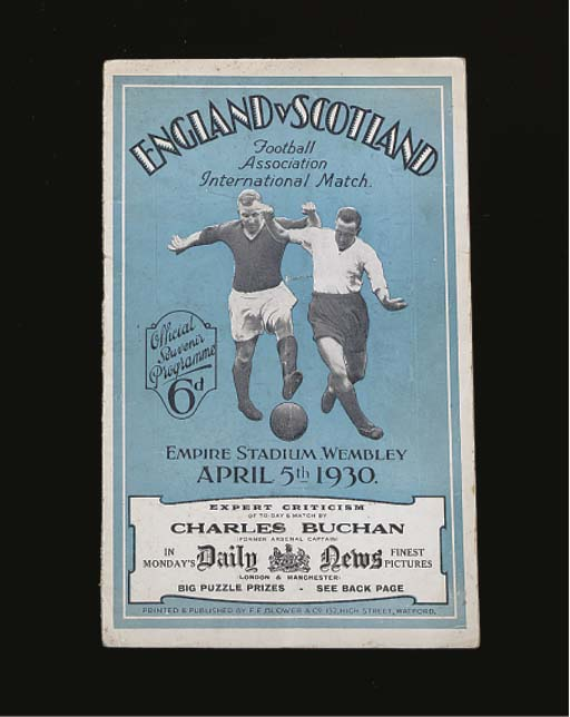 ENGLAND V. SCOTLAND INTERNATIONAL MATCH PROGRAMME, 5/4/30