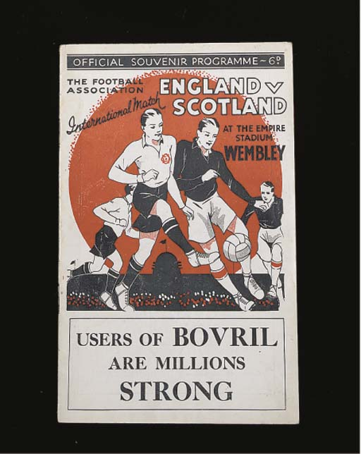 ENGLAND V. SCOTLAND INTERNATIONAL MATCH PROGRAMME, 14/4/34