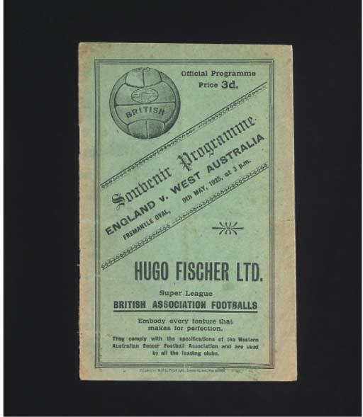 A WEST AUSTRALIA V. ENGLAND MA