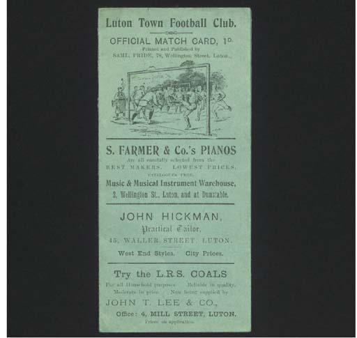 LUTON TOWN V. WOOLWICH ARSENAL