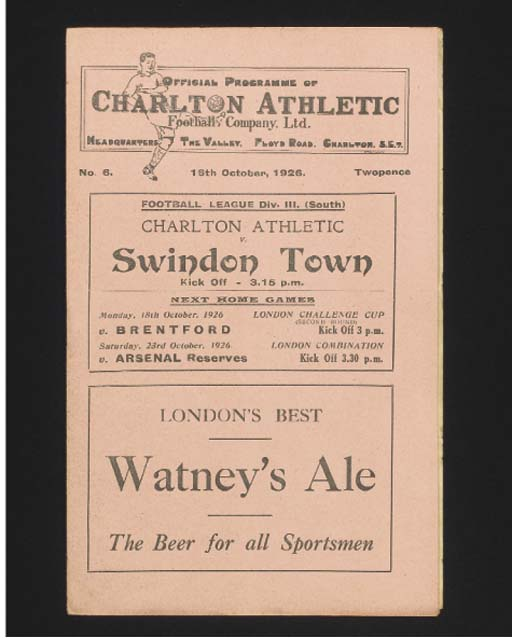 SIX CHARLTON ATHLETIC HOME MAT