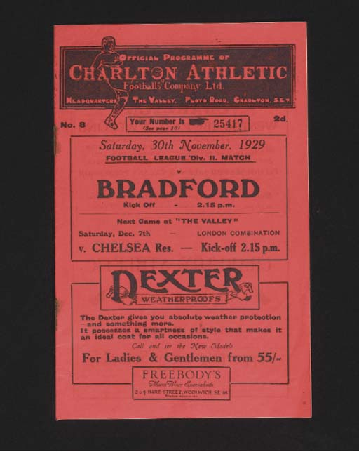 FOUR CHARLTON ATHLETIC HOME MA