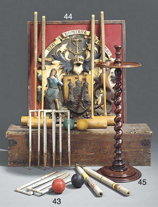 A Victorian mahogany candle st