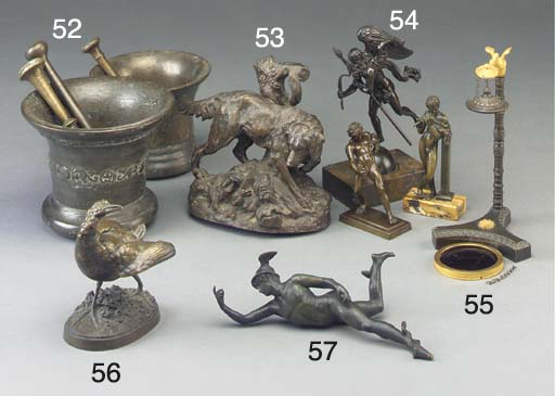 A bronze group of a hunting ho