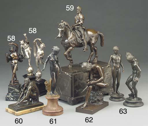 An Italian bronze model of Arr