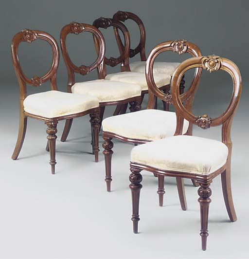 A set of six Victorian mahogan