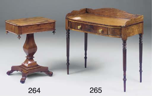 An early Victorian mahogany si