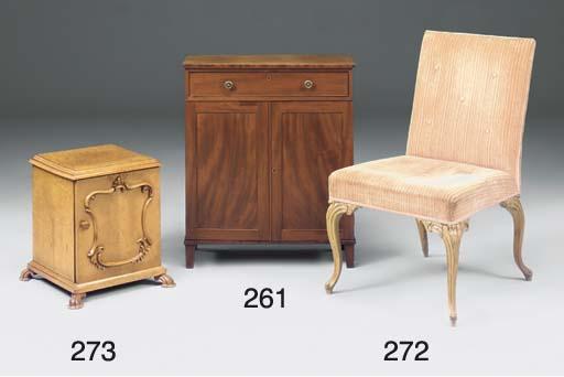 A George III beech and upholst