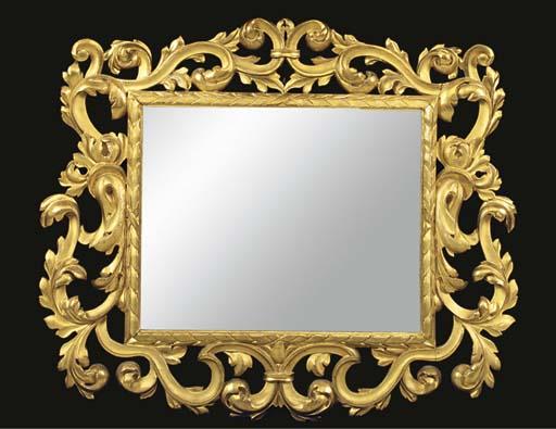 An Italian giltwood mirror