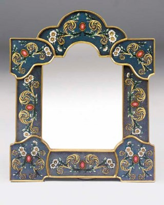 A giltwood and reverse painted