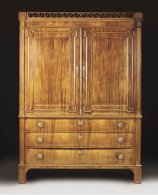 A DUTCH MAHOGANY WARDROBE