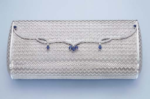 A WHITE GOLD AND GEM-SET CLUTCH BAG, BY RUSSO