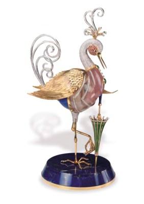 A GEM-SET EXOTIC BIRD, BY ASPR