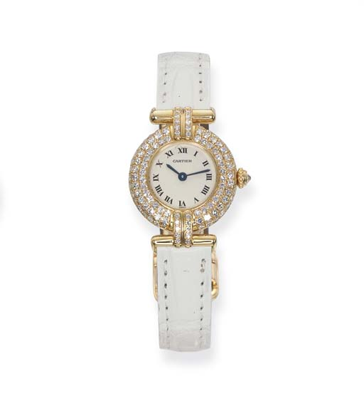 A LADY'S DIAMOND 'COLISEE' WRI