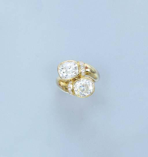 A DIAMOND TWO-STONE