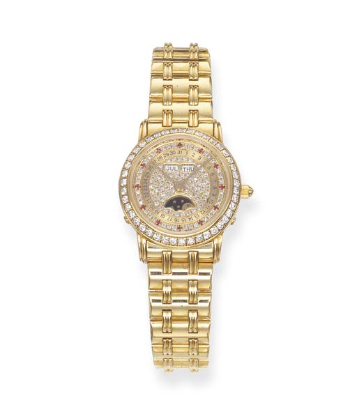 A LADY'S TRIPLE CALENDAR DIAMO