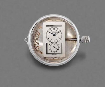 Rolex. A chromed display model
