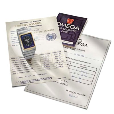 Omega. A stainless steel and g