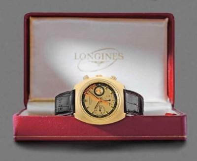 Longines. An unusual 18K gold