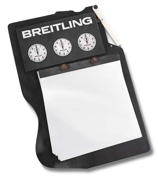 Breitling. A timing board with
