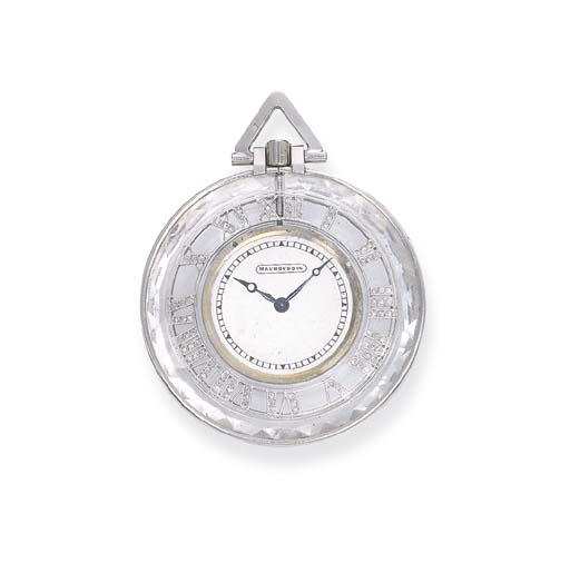 A ROCK CRYSTAL POCKETWATCH, BY