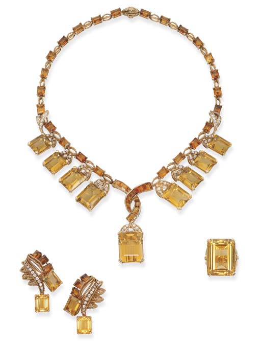 A CITRINE AND DIAMOND SUITE, M