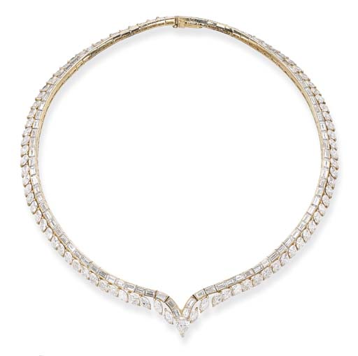 A DIAMOND NECKLACE, BY CARTIER