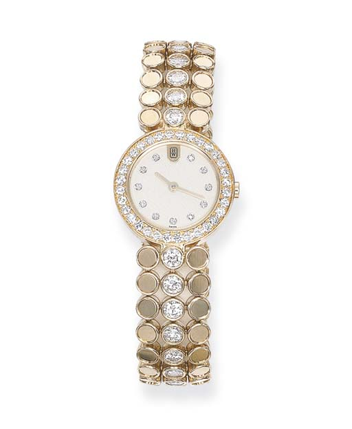 A DIAMOND-SET WRISTWATCH, BY H