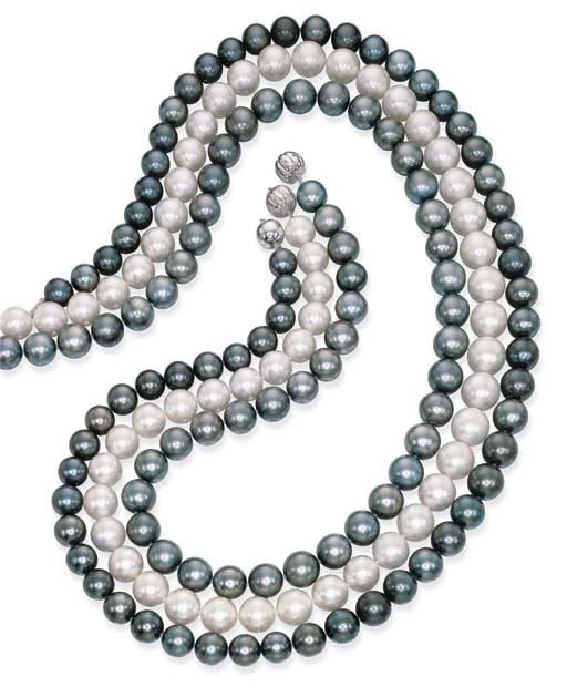 THREE SOUTH SEA CULTURED PEARL
