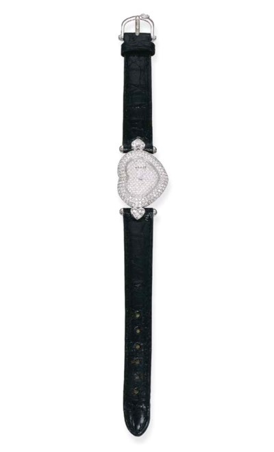 A DIAMOND WRISTWATCH, BY GRAFF