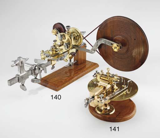 A fine brass wheel cutting eng