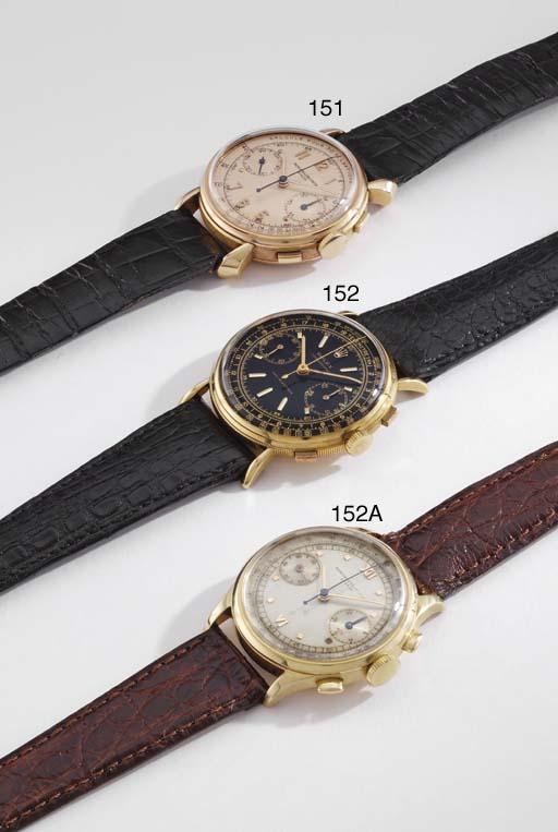 Rolex. A fine 18K gold chronog