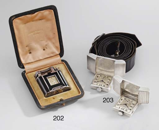 Dunhill. A silver and enamel l