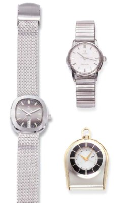 TWO STEEL WRISTWATCHES, BY OME