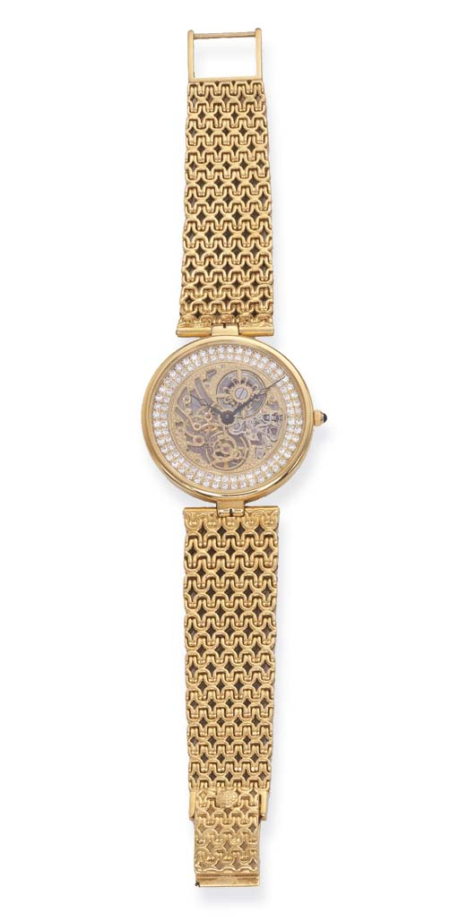 AN 18K GOLD AND DIAMOND SKELET