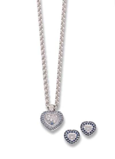A 'HAPPY' SAPPHIRE AND DIAMOND
