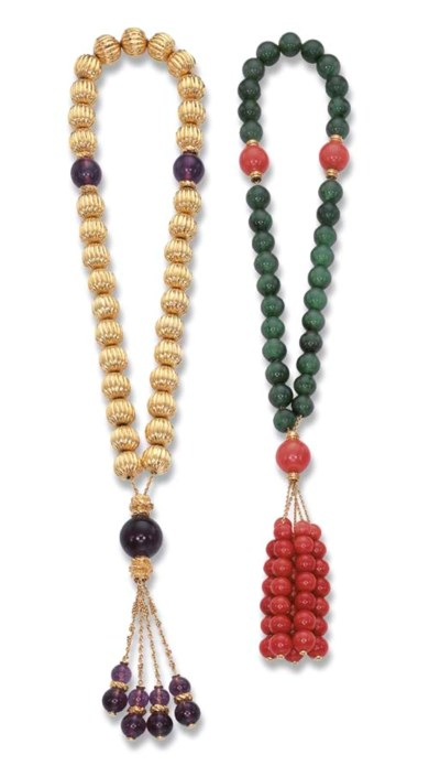 TWO ROSARIES, BY CHAUMET