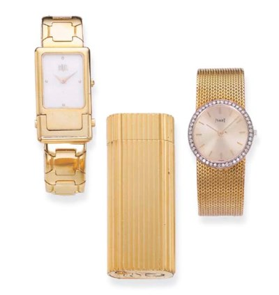 A GOLD WRISTWATCH, BY PIAGET,